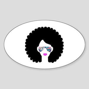 hologram afro girl Sticker