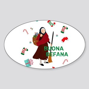 christmas Witch buona Befana Sticker