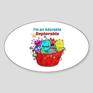 Adorable Deplorables in Trump Basket of De Sticker