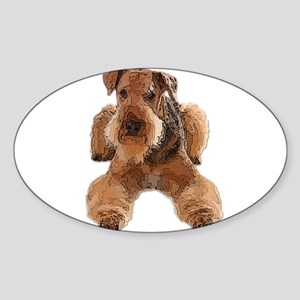 Heavily Deconstructed Vector Airedale Terr Sticker