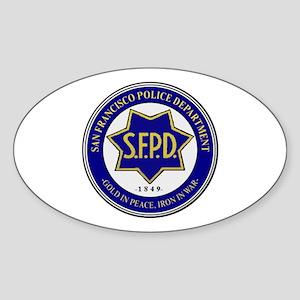 San Francisco Police Sticker