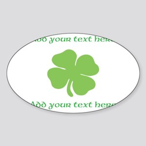 St. Patricks Day personalisable shamrock Sticker