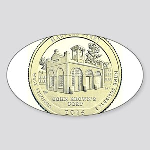 West Virginia Quarter 2016 Basic Sticker (Oval)