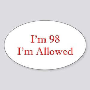 98 I'm Allowed 1C Red Sticker