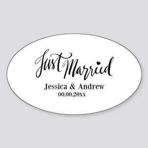 Just Married custom wedding Sticker