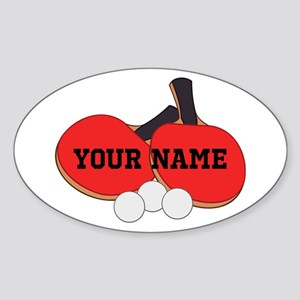 Personalized Table Tennis Ping Pong Sticker