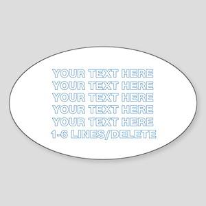 Personalized Customized (Blue) Sticker (Oval)