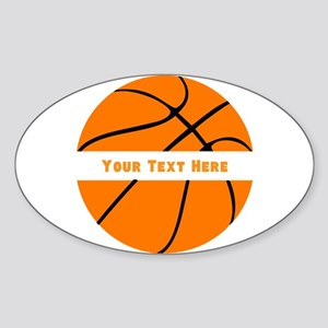 Basketball Personalized Sticker (Oval)