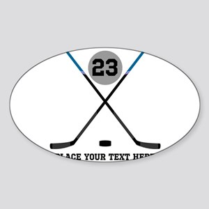 Ice Hockey Personalized Sticker (Oval)