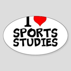 I Love Sports Studies Sticker