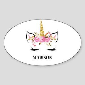 Unicorn Face Eyelashes Personalized Gift Sticker