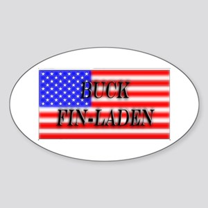 """""""Buck Fin-Laden"""" Oval Sticker"""