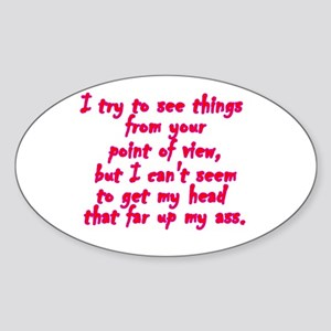 Point of View Oval Sticker