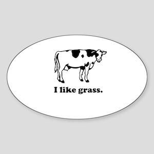 I Like Grass Oval Sticker