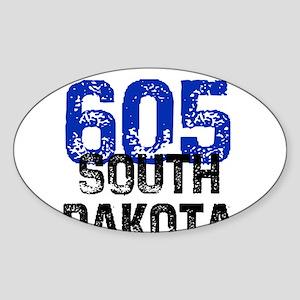 605 Oval Sticker