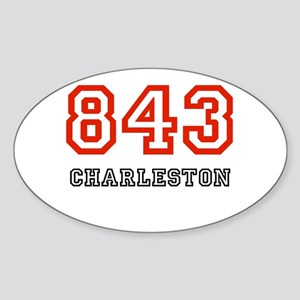 843 Oval Sticker