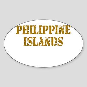 Philippine Islands Oval Sticker
