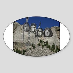 Native Mt. Rushmore Oval Sticker