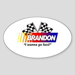 Racing - Brandon Oval Sticker