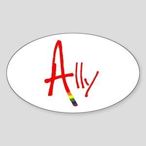 Ally Oval Sticker