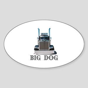 Big Dog Oval Sticker