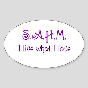 sahm 2 Oval Sticker