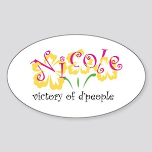 Nicole Oval Sticker