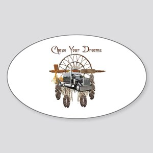 Chase Your Dreams Oval Sticker