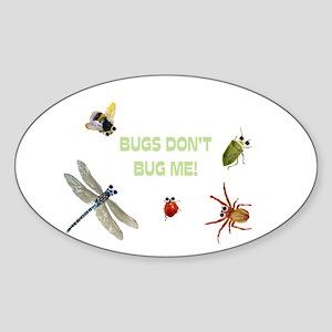 Cute bugs Oval Sticker