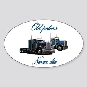 Old Peter Never Die Oval Sticker
