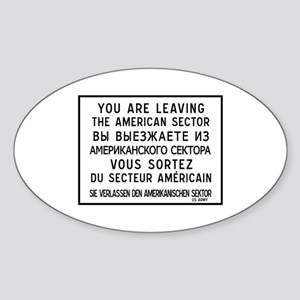 You Are Leaving The American Sector, Berlin Sticke