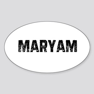 Maryam Oval Sticker