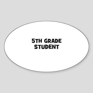 5th Grade Student Oval Sticker
