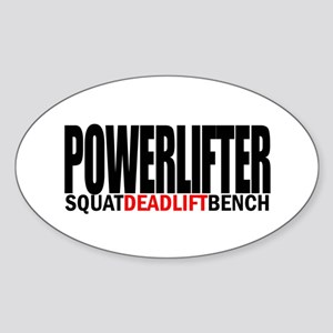 POWERLIFTER Oval Sticker
