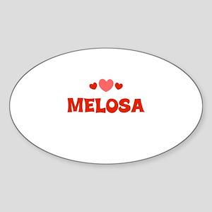 Melosa Oval Sticker