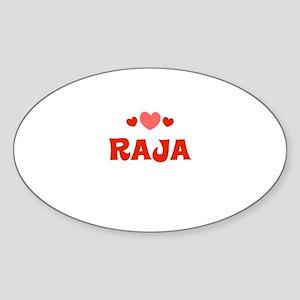 Raja Oval Sticker