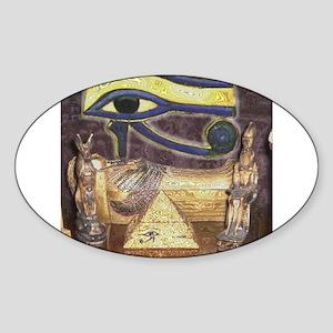 egyptianartpillow Sticker (Oval)