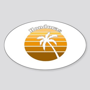 Honduras Oval Sticker