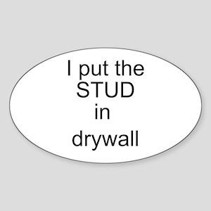 Stud in drywall Oval Sticker