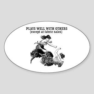 Fabric Sales Oval Sticker