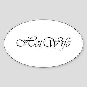 Hotwife Oval Sticker
