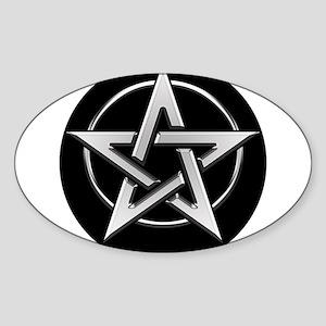Inside Circle Pentagram Sticker