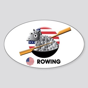 rowing Oval Sticker