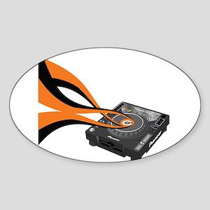 CDJ-1000 Sounds Oval Sticker