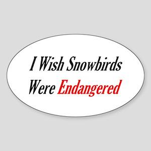 Snowbirds Endangered Oval Sticker