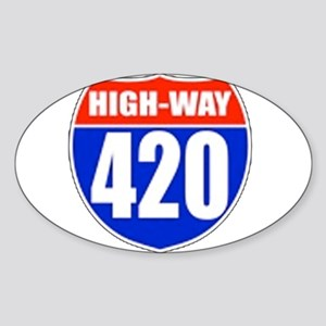 highway Oval Sticker