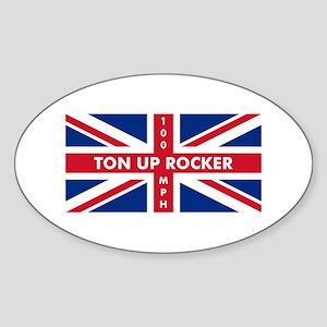 Ton Up Jack Oval Sticker