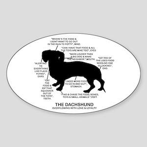 Dachshund Chart Oval Sticker