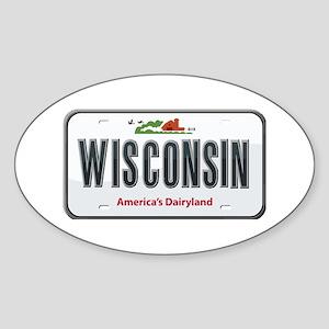 Wisconsin Plate Oval Sticker