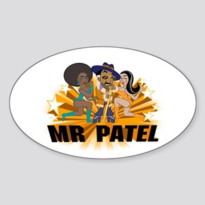 Mr Patel Oval Sticker